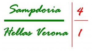 sampdoria hellas verona 4 1