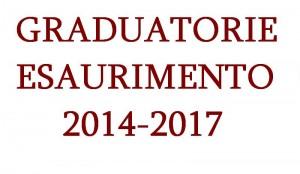graduatorie esaurimento 2014 17