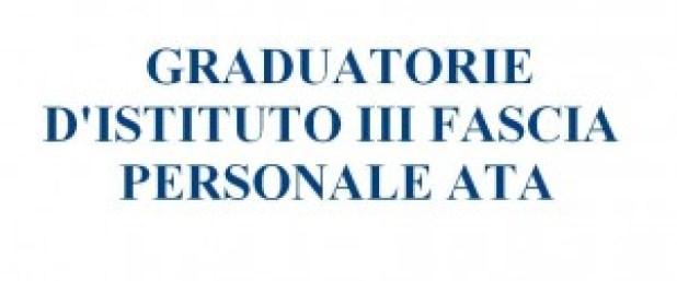 graduatorie d'istituto terza fascia personale ATA 2014