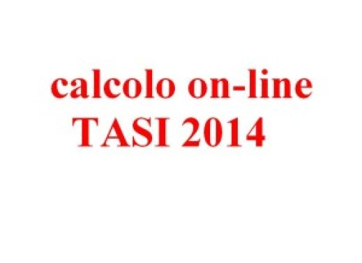 TASI 2014 - calcolo on-line