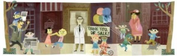 Jonas Salk doodle