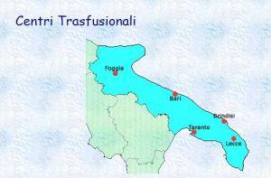 centri trasfusionali in Puglia