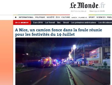 Le Monde online - screenshot home page