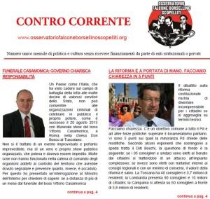 """Online il numero di settembre del mensile """"Contro Corrente"""""""