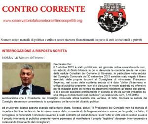 """Online il numero di novembre del mensile """"Contro Corrente"""""""