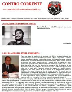 """Online il numero di gennaio del mensile """"Contro Corrente"""""""