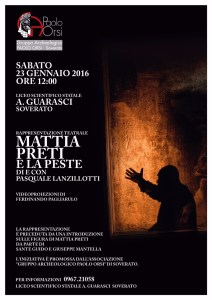 Spettacolo su Mattia Petri al Liceo Scientifico di Soverato