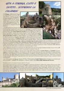 Domenica 29 Maggio gita da Soverato a Curinga, Cleto e Savuto