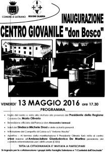 Satriano, inaugurazione centro giovanile Don Bosco