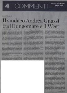 Il sindaco Andrea Gnassi tra il lungomare e il West