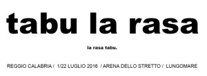 Tabularasa 2016 parte venerdì 1 luglio all'Arena dello Stretto di Reggio Calabria