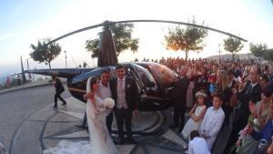 """Elicottero atterra nella piazza di Nicotera per un matrimonio. Coisp Calabria: """"Si chiariscano ruoli e responsabilità"""""""