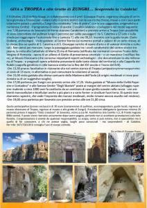 Gita del 9 Ottobre da Soverato alle grotte di Zungri e al centro storico di Tropea