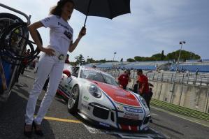 Simone Iaquinta a Imola per la stesta tappa della Carrera Cup Italia