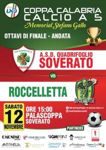 Calcio a 5 – Il Club Quadrifoglio anticipa l'andata dei quarti di finale di Coppa Calabria