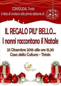"""Evento Consolidal a Tiriolo """"I nonni raccontano il Natale"""""""