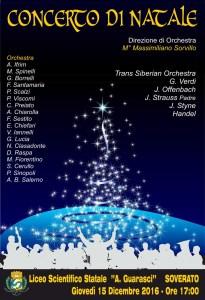"""Giovedì 15 Dicembre al Liceo Scientifico di Soverato il """"Concerto di Natale"""""""