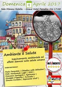 """Catanzaro – Domenica 9 Aprile l'evento M5S """"Ambiente è Salute"""""""