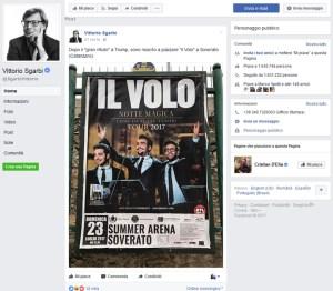 Post di Sgarbi sul concerto de Il Volo a Soverato, nota del sindaco Ernesto Alecci