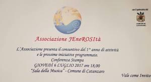 L'associazione no profit JEneROSItà presenta bilancio e futuri obiettivi