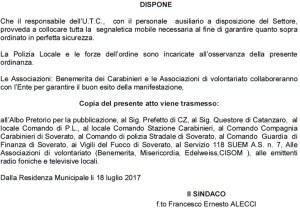 """Soverato – Ordinanza sindacale chiusura strade per il """"Summer Carnival"""""""