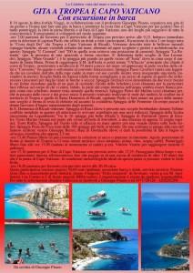 Gita a Tropea con escursione in barca del 18 Agosto con partenza da Soverato