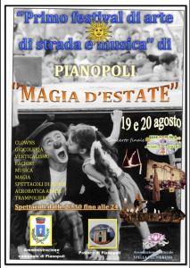 """A Pianopoli il Primo Festival di arte di strada e musica """"Magia d'estate"""""""