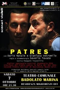 MigraMenti Off al Teatro comunale di Badolato, sabato sera l'appuntamento è con Patres di Scenari Visibili