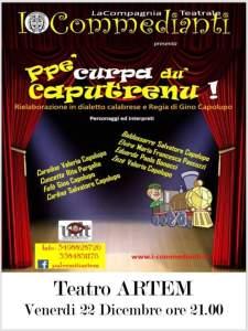 """Venerdì 22 Dicembre a Palermiti la commedia """"Ppe' 'curpa du' caputrenu"""""""