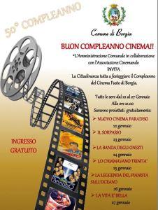 """Borgia – Continua la rassegna """"Buon compleanno cinema"""", fino a sabato 27 gennaio proiezioni gratuite"""