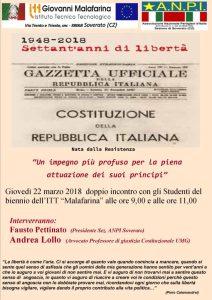 Soverato – Iniziative per i settant'anni di Costituzione e di libertà