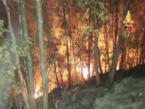 Incendi sterpaglie in tutta la Provincia di Catanzaro