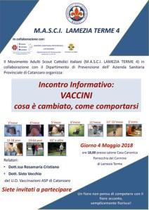 Il 4 Maggio a Lamezia Terme un incontro informativo sui vaccini