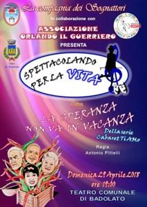 A Badolato spettacolo con raccolta fondi per Orlando Fratto