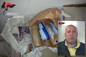 Cardinale – Nascondeva esplosivo nel sottotetto di casa, 54enne arrestato