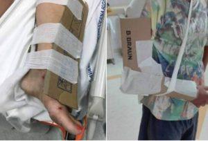 In ospedale mancano gessi e stecche, pazienti medicati con pezzi di cartone