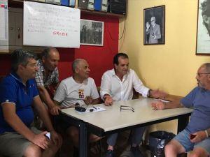 Il presidente della Provincia di Catanzaro, Enzo Bruno, a Petrizzi per un incontro con cittadini e amministratori