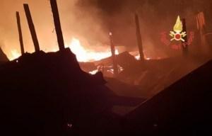Incendio distrugge capannone, morti diversi animali