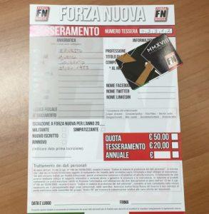 Forza Nuova Calabria: tessera ad honorem per il sindaco di Soverato