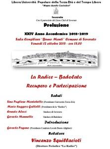Soverato – Venerdì 12 Ottobre prolusione del XXIV Anno Accademico