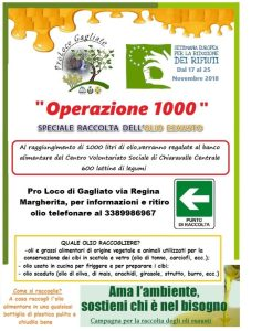 """Gagliato – """"Operazione 1000"""" l'azione della Proloco nella settimana Europea per la riduzione dei rifiuti"""