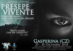 Il 29 e 30 Dicembre il Presepe Vivente a Gasperina