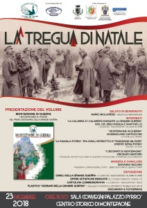 """Domenica 23 Dicembre l'evento """"La Tregua di Natale"""" – Presentazione del volume """"Montepaone in guerra"""""""