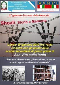 Iniziative dell'ANPI di Soverato per la Giornata Internazionale della Memoria
