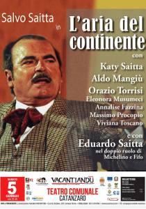 """Per la prima volta in Calabria Il Teatro dei Saitta con """"L'Aria del Continente"""" al Teatro Comunale di Catanzaro"""