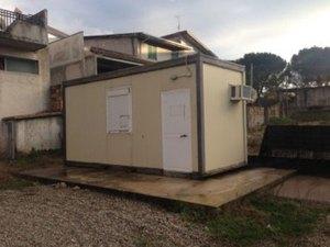 Maltempo – Installati due container per i senzatetto di Cosenza