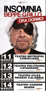 Beppe Grillo in arrivo in Calabria per 4 tappe del tour a Corigliano, Catanzaro, Reggio e Rende