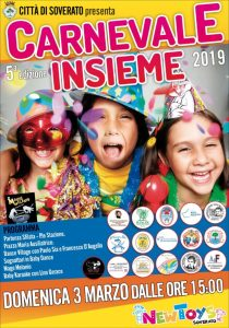 """Soverato – Domenica 3 Marzo la quinta edizione del """"Carnevale Insieme"""""""