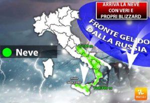 Maltempo – Venti di burrasca e nevicate fino a bassa quota in Calabria