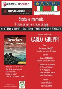 Mercoledì 6 marzo iniziativa ANPI al Teatro Comunale di Soverato